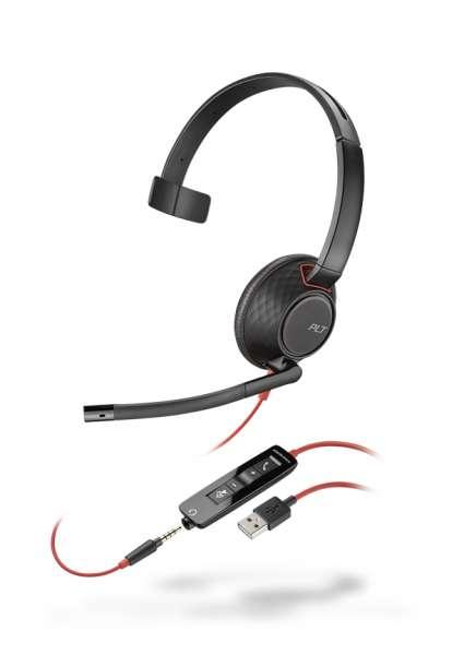Poly Blackwire C5210 USB-A & 3,5mm Klinke Mono NC Headset mit CallControl für UC/Microsoft