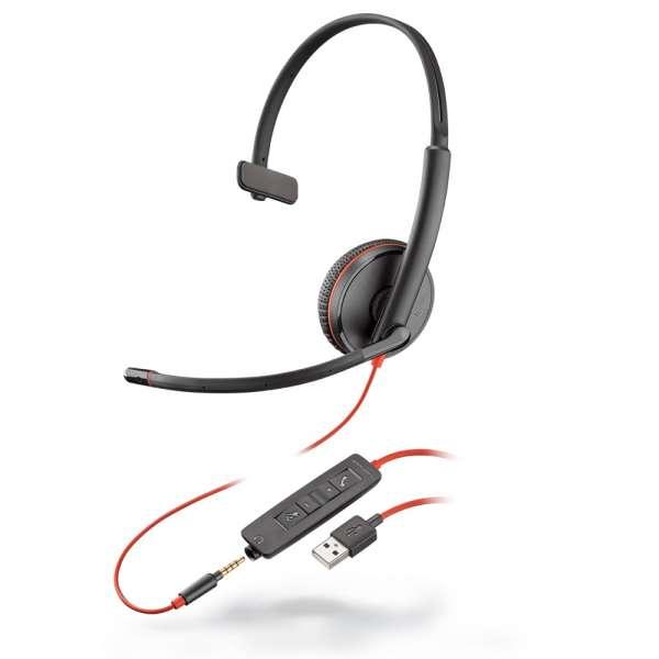Poly Blackwire C3215 USB-A & 3,5mm Klinke Mono NC Headset mit CallControl für UC/Microsoft
