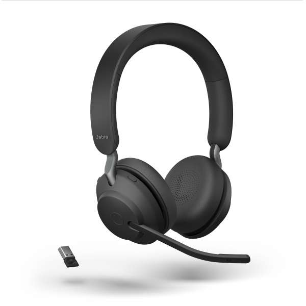 Jabra Evolve2 65 Link380a MS Stereo Black Bluetooth NC Headset inkl. Link 380 USB-A MS Teams BT Dong