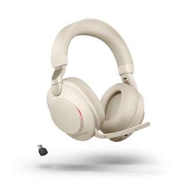 Jabra Evolve2 85 Link380c UC Stereo Stand Beige ANC Bluetooth NC Headset inkl. Deskstand & Link 380
