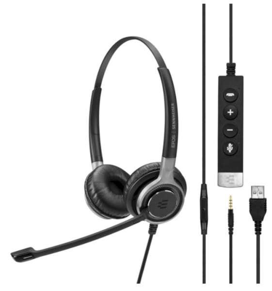 EPOS | SENNHEISER IMPACT SC 665 USB-A & 3,5mm Klinke ML/UC Duo UNC Headset mit CallControl für UC/Mi