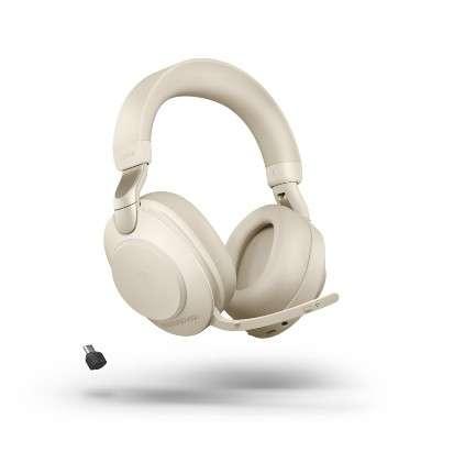 Jabra Evolve2 85 Link380c UC Stereo Beige ANC Bluetooth NC Headset inkl. Link 380 USB-C UC BT Dongle
