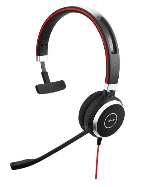Jabra Evolve 65 UC Mono Bluetooth NC Headset inkl. Ladestation & Link 370 Dongle für PC Softphone/Mo