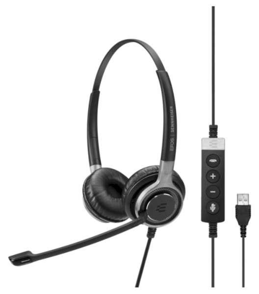 EPOS | SENNHEISER IMPACT SC 660 USB ML/UC Duo UNC Headset mit CallControl für UC/Microsoft