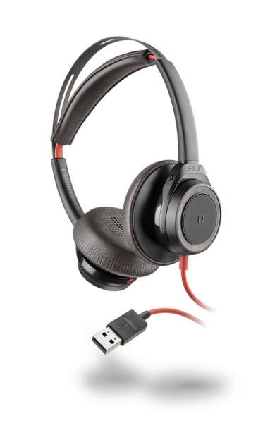 Poly Blackwire C7225 USB-A ANC Duo Black NC Headset mit Active Noise Cancelling & CallControl für UC