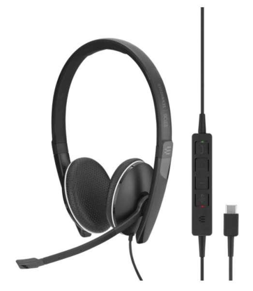 EPOS | SENNHEISER ADAPT SC 165 USB-C & 3,5mm Klinke ML/UC Duo NC Headset mit CallControl für UC/Micr