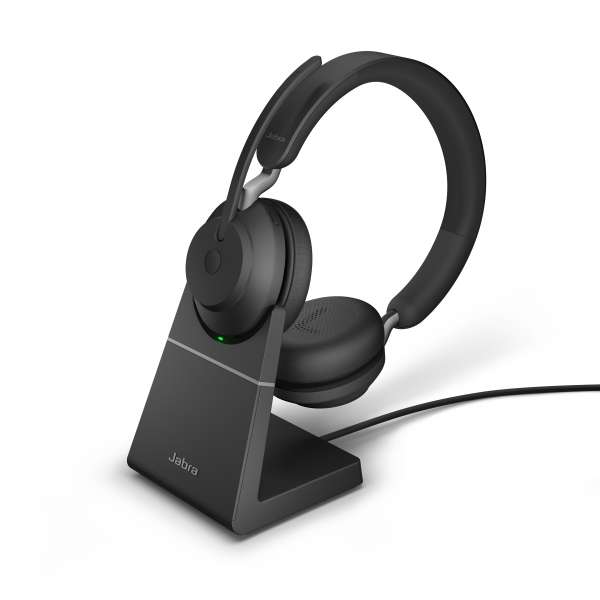 Jabra Evolve2 65 Link380c UC Stereo Black Bluetooth NC Headset inkl. Link 380 USB-C UC BT Dongle an