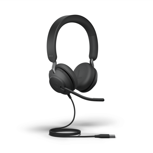 Jabra Evolve2 40 UC Duo USB-A Stereo NC Headset mit PNC, Busylight & CallControl