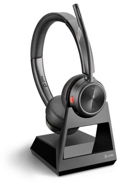 Poly Savi 7220 Duo Office DECT NC Headset für Festnetz