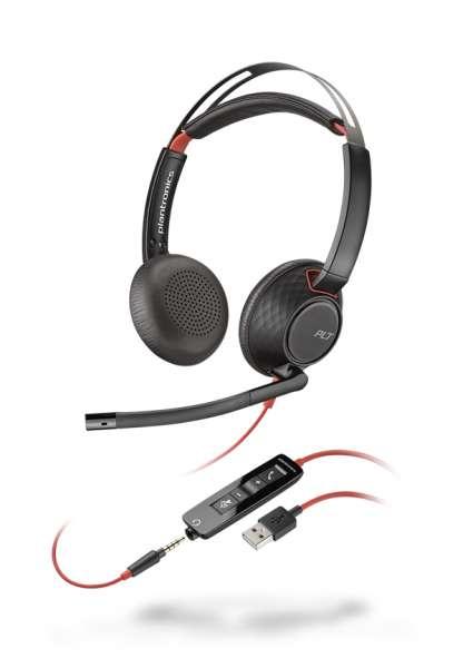 Poly Blackwire C5220 USB-A & 3,5mm Klinke Duo NC Headset mit CallControl für UC/Microsoft