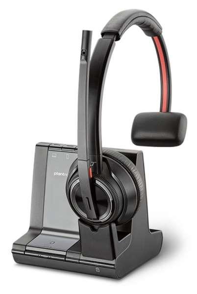Poly Savi 8210-M Mono Office DECT NC Headset für Festnetz, PC Softphone und Mobiltelefon für Microso