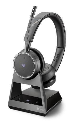 Poly Voyager 4220 Office MS Teams USB-C 2-Way Base Duo Bluetooth NC Headset für Festnetz, PC Softpho