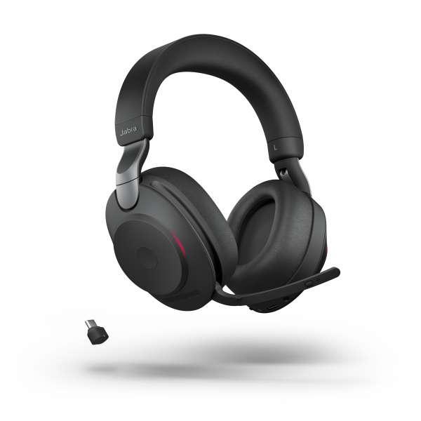 Jabra Evolve2 85 Link380a UC Stereo Black ANC Bluetooth NC Headset inkl. Link 380 USB-A UC BT Dongle