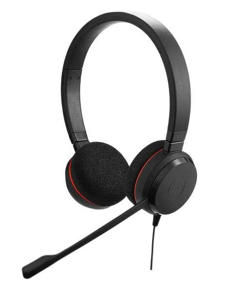 Jabra Evolve 20 Special Edition MS Duo USB NC Headset Kunstleder-Ohrpolster mit CallControl für Micr