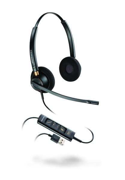 Poly EncorePro HW525 USB-A Duo NC Headset mit CallControl für UC/Microsoft