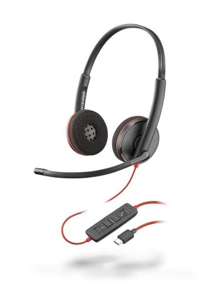 Poly Blackwire C3220 USB-C Duo NC Headset mit CallControl für UC/Microsoft