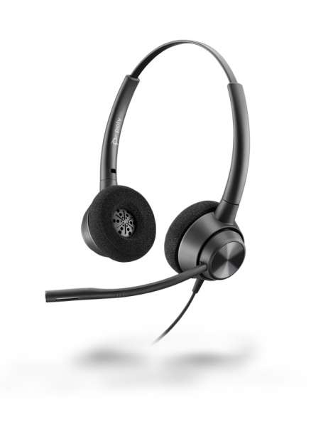 Poly EncorePro EP320 USB-A Duo NC Headset mit CallControl für UC/Microsoft