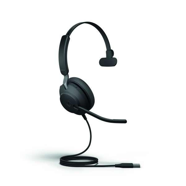 Jabra Evolve2 40 MS Teams Mono USB-A NC Headset mit PNC, Busylight & CallControl für Microsoft Teams