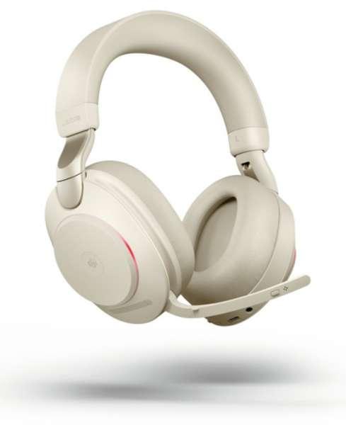 Jabra Evolve2 85 Link380a UC Stereo Beige ANC Bluetooth NC Headset inkl. Link 380 USB-A UC BT Dongle