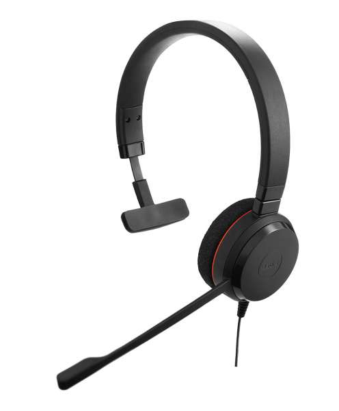 Jabra Evolve 20 Special Edition MS Mono USB NC Headset Kunstleder-Ohrpolster mit CallControl für Mic