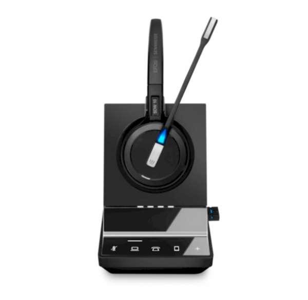 EPOS | SENNHEISER IMPACT SDW 5016 Mono 3-in-1 DECT UNC Headset mit BTD 800 Dongle für Festnetz, PC S