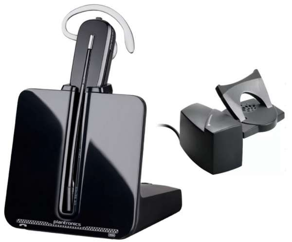 Poly CS540 + HL10 Lifter Konvertible DECT NC Headset mit Telefonhörerlifter für Festnetz.