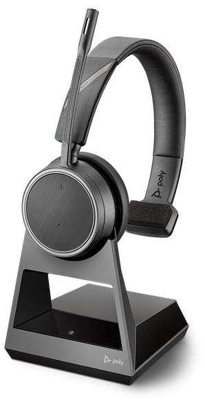 Poly Voyager 4210 Office 1-Way Base Mono Bluetooth NC Headset für Festnetz und Mobiltelefon