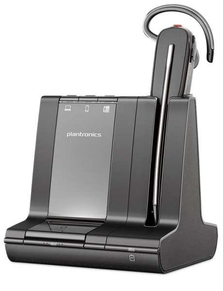 Poly Savi 8240-M Konvertible Office DECT NC Headset für Festnetz, PC Softphone und Mobiltelefon für