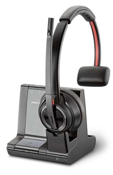 Poly Savi 8210 Mono Office DECT NC Headset für Festnetz, PC Softphone und Mobiltelefon