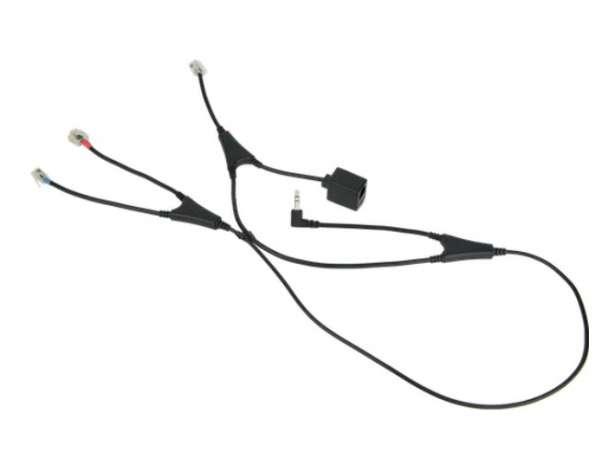 Jabra Link 36 MSH EHS Adapter an der Alcatel 8' & 9 S-Serie (40x8/40x9 & 8019s, 8029s & 8039s)