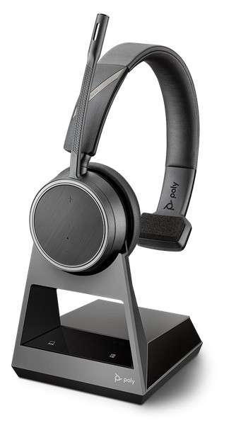 Poly Voyager 4210 Office USB-C 2-Way Base Mono Bluetooth NC Headset für Festnetz, PC Softphone und M