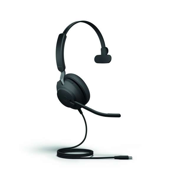 Jabra Evolve 40 UC Mono USB-C & 3,5mm Klinke NC Headset mit Busylight & CallControl