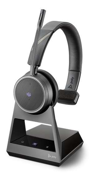 Poly Voyager 4210 Office MS Teams USB-C 2-Way Base Mono Bluetooth NC Headset für Festnetz, PC Softph
