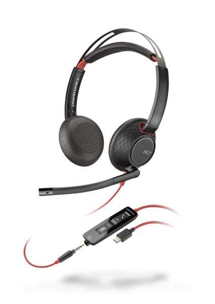 Poly Blackwire C5220 USB-C & 3,5mm Klinke Duo NC Headset mit CallControl für UC/Microsoft