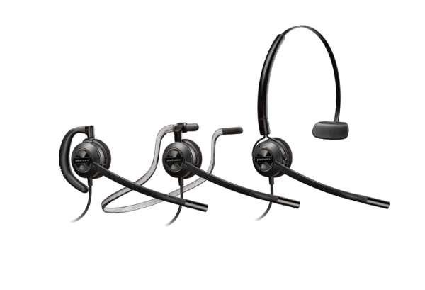 Poly EncorePro HW540 Konvertibl NC Headset mit Überkopfbügel, Nackenbügel, Ohrhaken