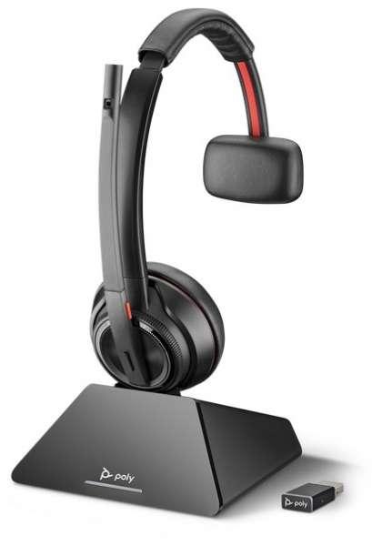 Poly Savi 8210 UC USB Mono DECT NC Headset mit D200 DECT USB Dongle für PC Softphone