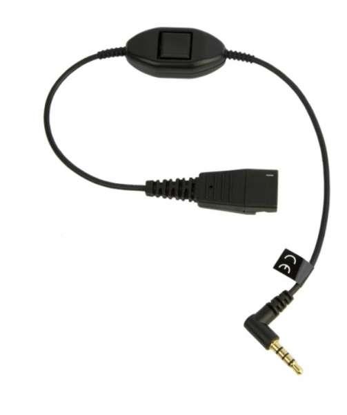 Jabra 103 Anschlusskabel QD zu 3,5mm Stereo Klinke für Alcatel S-Serie 8028s, 8058s, 8068s and 8078s