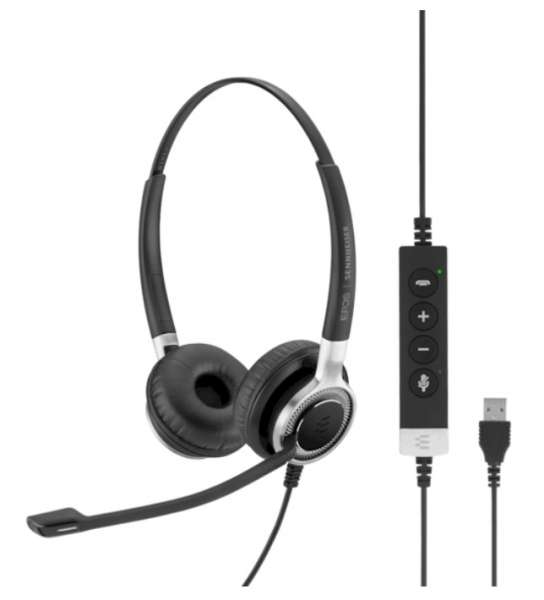 EPOS | SENNHEISER IMPACT SC 660 ANC USB ML/UC Duo UNC Headset mit Active Noise Cancelling & CallCont