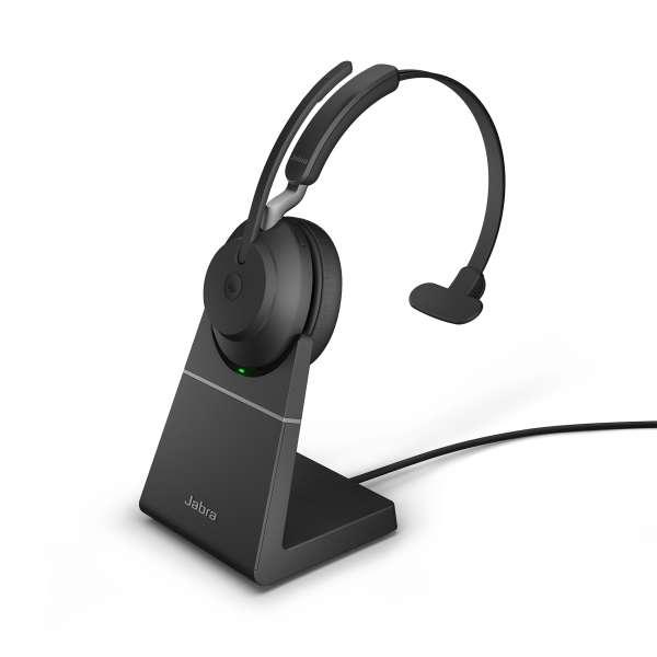 Jabra Evolve2 65 Link380a UC Mono Stand Black Bluetooth NC Headset inkl. Deskstand & Link 380 USB-A