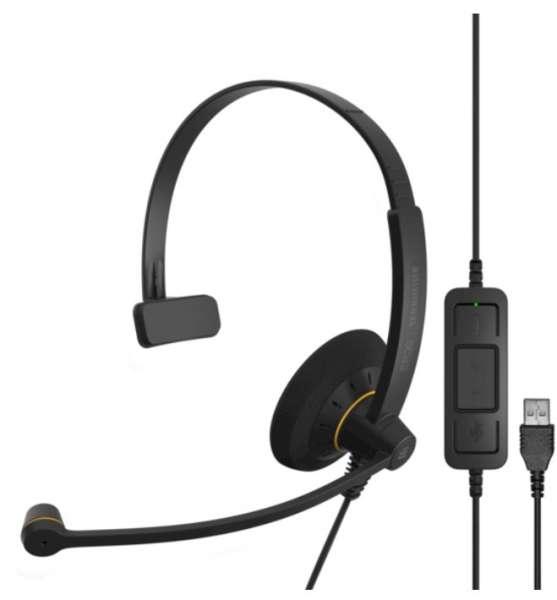 EPOS | SENNHEISER IMPACT SC 30 USB ML/UC Mono NC Headset mit CallControl für UC/Microsoft