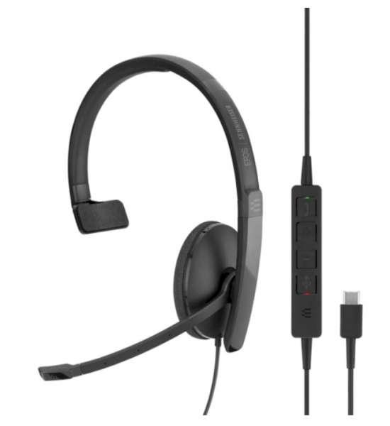 EPOS | SENNHEISER ADAPT SC 130 USB-C ML/UC Mono NC Headset mit CallControl für UC/Microsoft