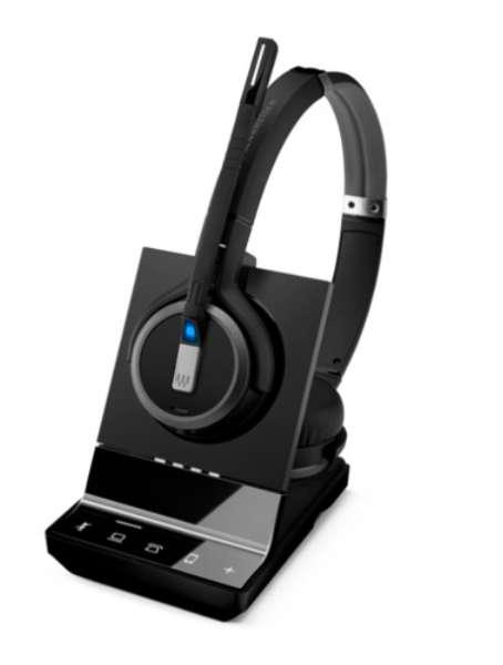 EPOS | SENNHEISER IMPACT SDW 5065 Duo DECT UNC Headset für Festnetz und PC Softphone (optional Mobil