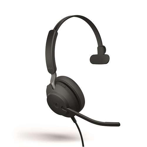 Jabra Evolve2 40 MS Teams Mono USB-C NC Headset mit PNC, Busylight & CallControl für Microsoft Teams