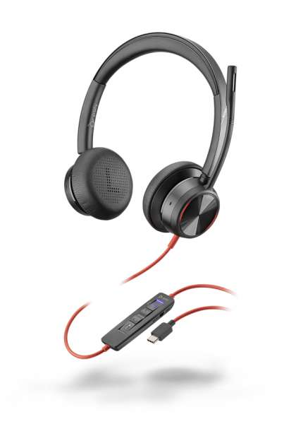 Poly Blackwire 8225-M USB-C ANC Duo NC Headset mit Active Noise Cancelling & CallControl für Microso