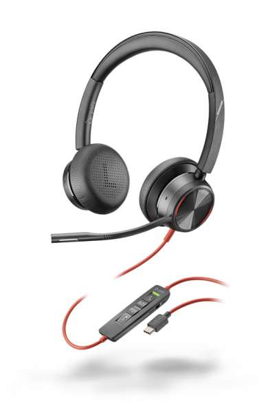 Poly Blackwire 8225 USB-C ANC Duo NC Headset mit Active Noise Cancelling & CallControl für UC
