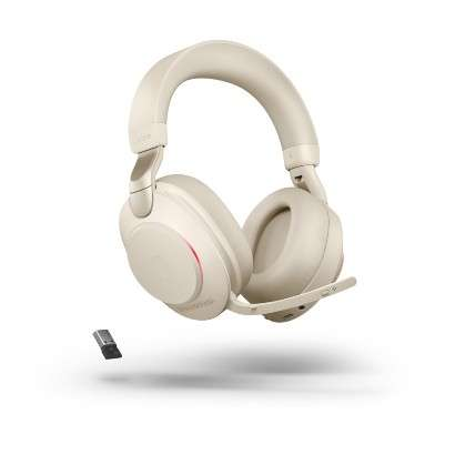 Jabra Evolve2 85 Link380a UC Stereo Stand Beige ANC Bluetooth NC Headset inkl. Deskstand & Link 380