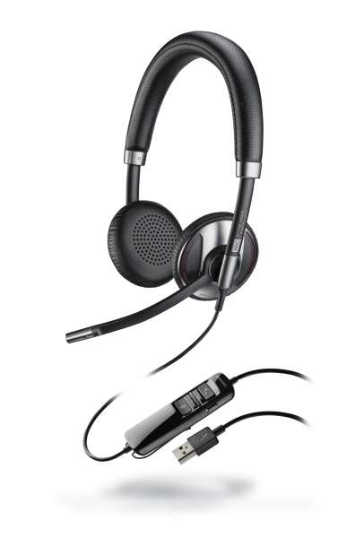 Poly Blackwire C725-M USB-A ANC Duo NC Headset mit Active Noise Cancelling & CallControl für Microso