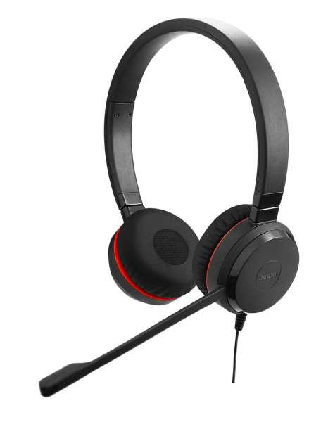 Jabra Evolve 30 II MS Duo USB & 3,5mm Klinke NC Headset mit CallControl für Microsoft