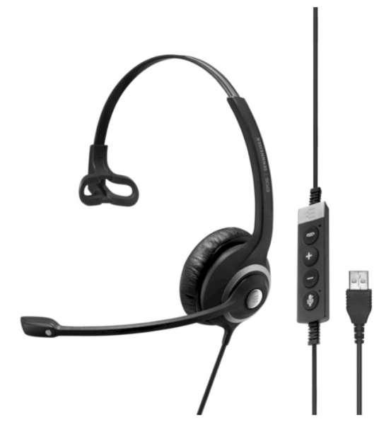 EPOS | SENNHEISER IMPACT SC 230 II USB ML/UC Mono NC Headset mit CallControl für UC/Microsoft