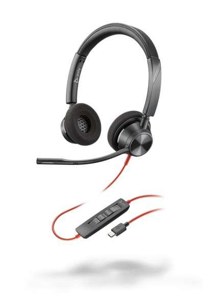 Poly Blackwire 3320 USB-C Duo NC Headset mit CallControl für UC
